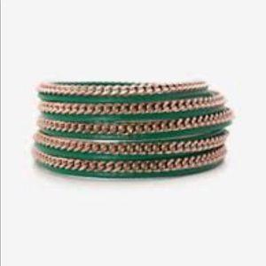 Vita Fede Capri 5 Wrap Bracelet Green
